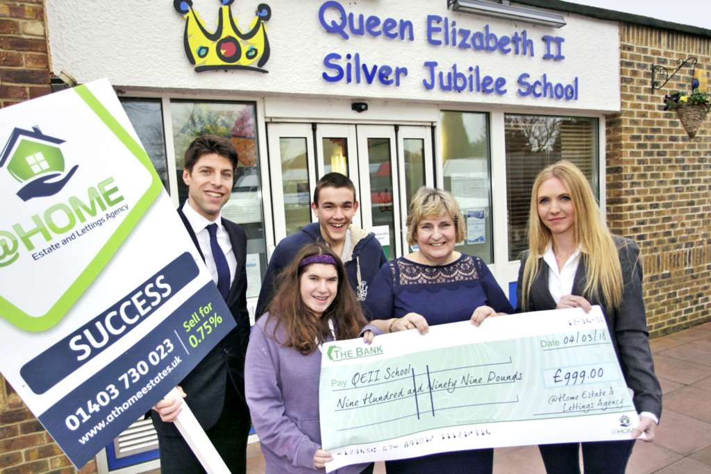 At Home Estate Agents donate first sales fee to local school