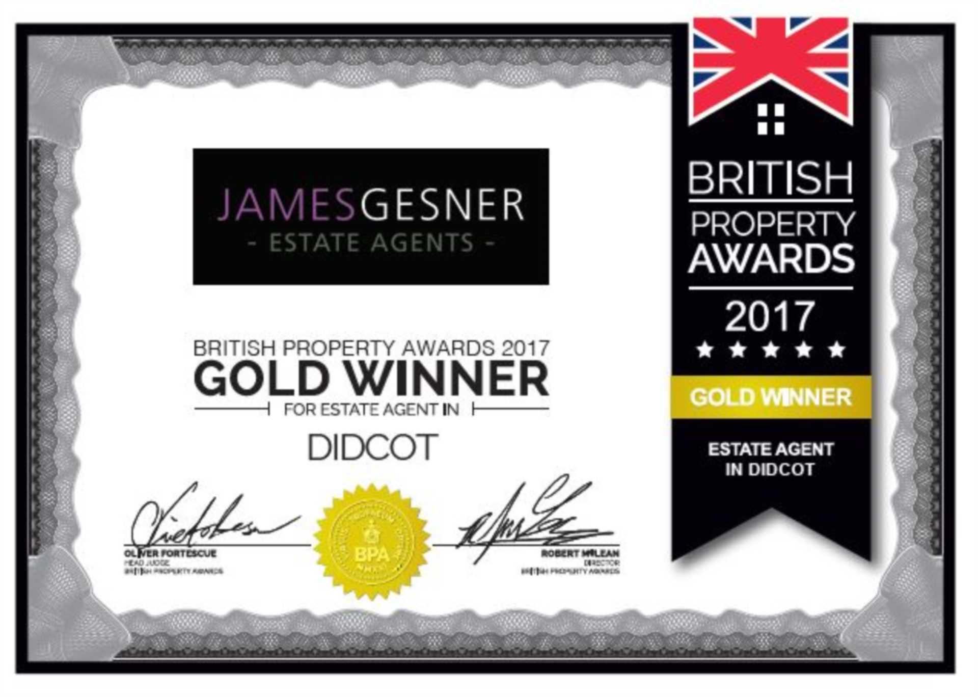 British Property Awards Gold Winner!