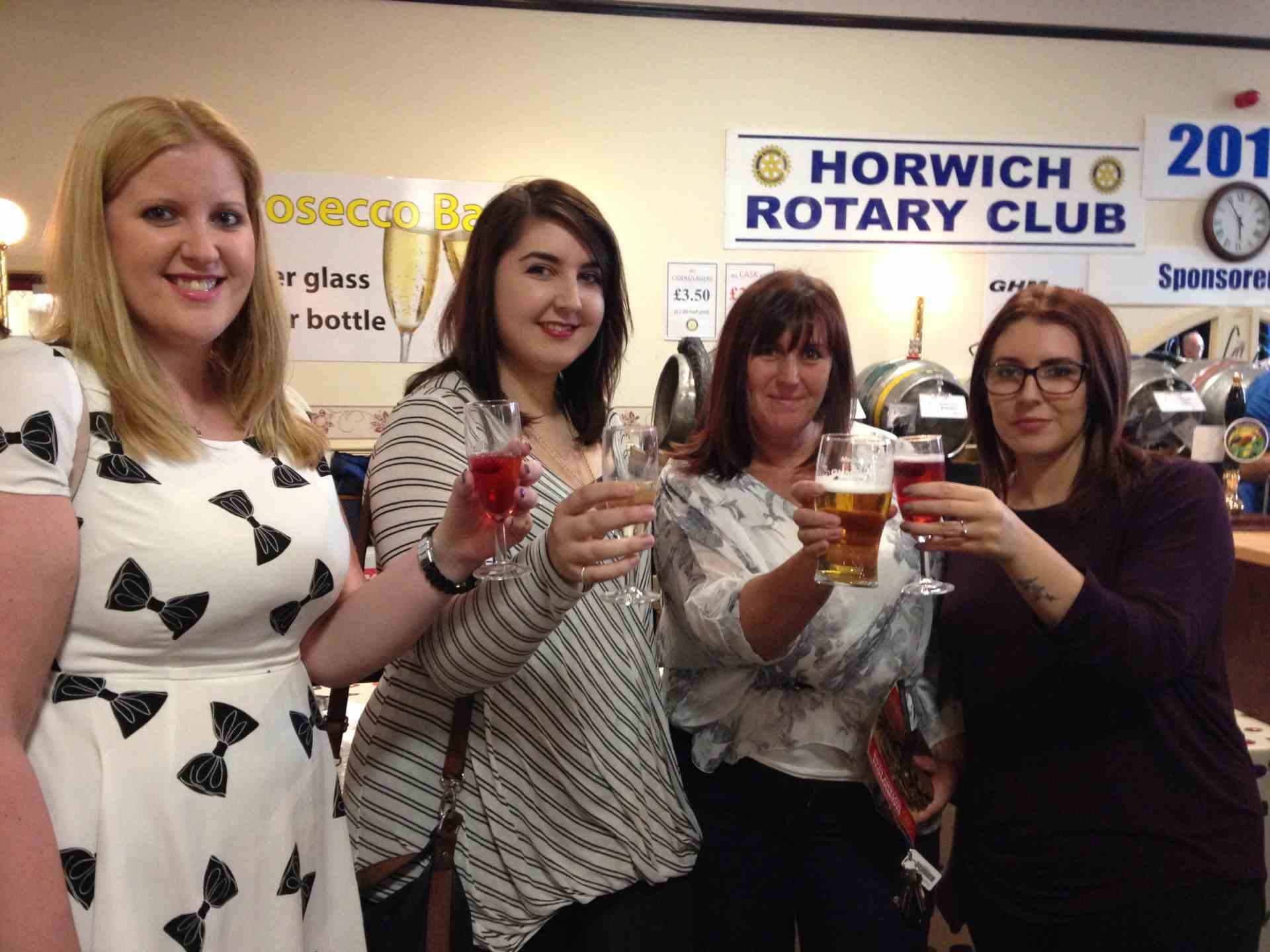 Horwich Beer Festival - some of our Team enjoying a drink