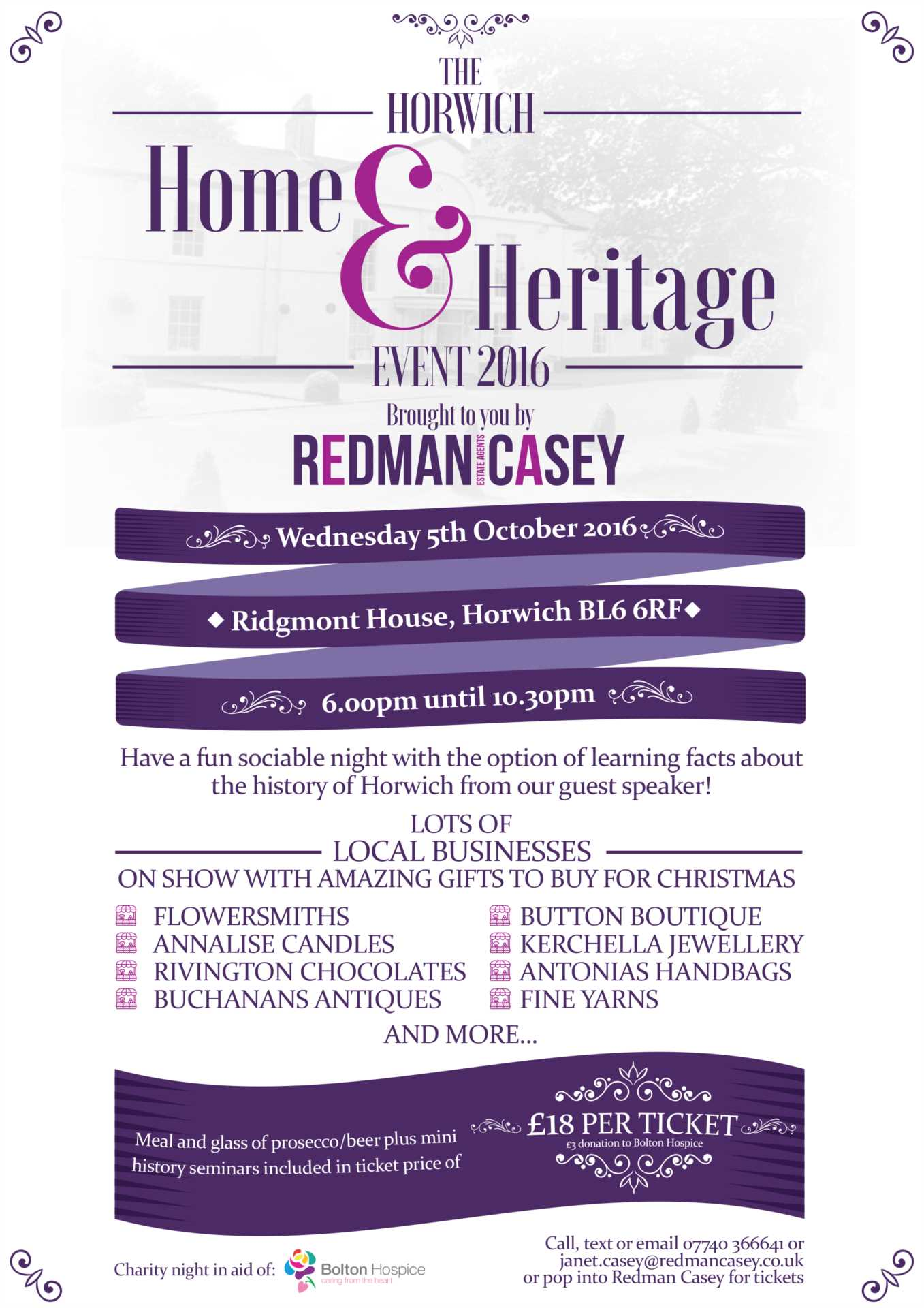 HORWICH HOME & HERITAGE EVENT