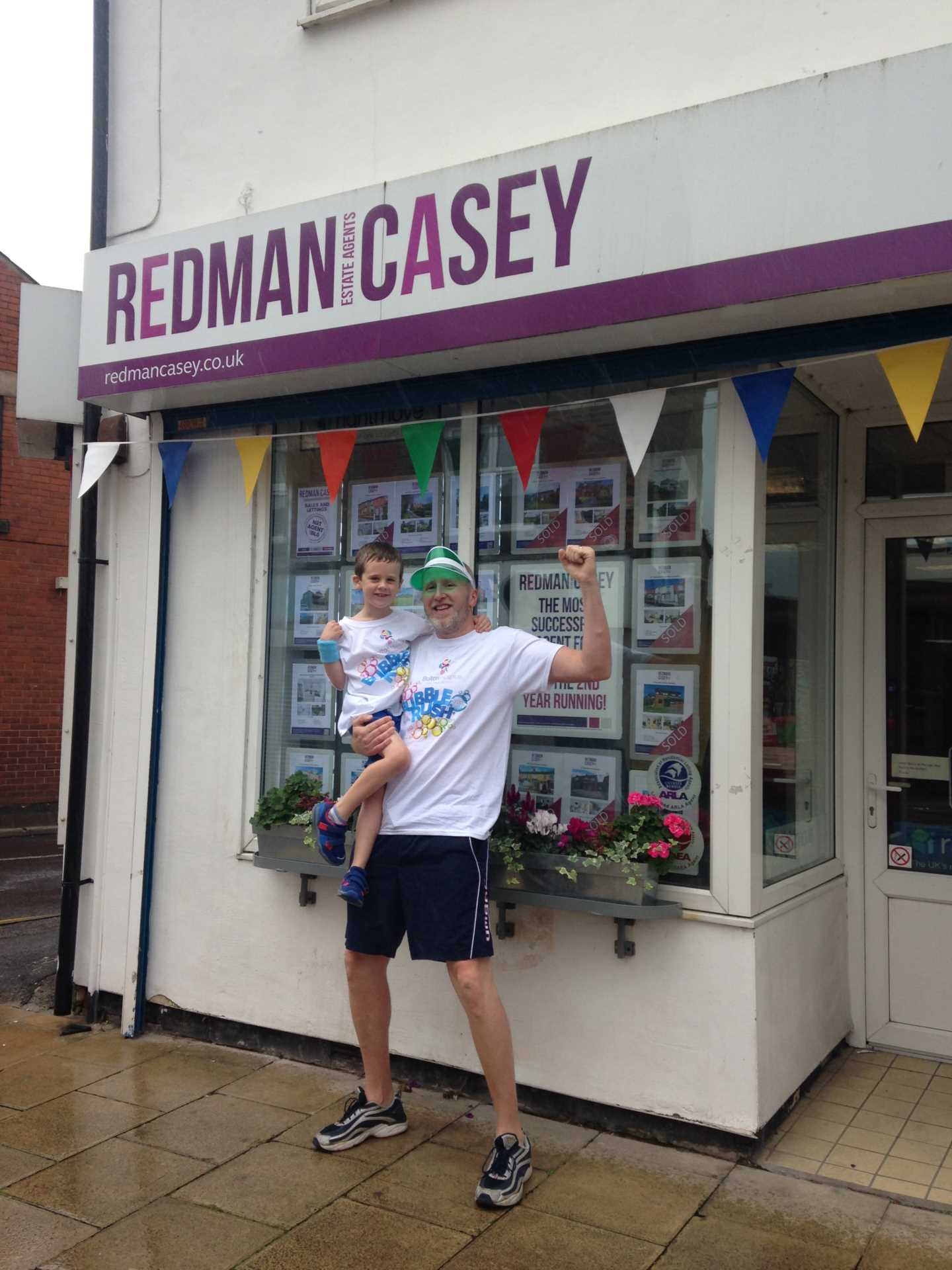 Supporting our favourite postman and his son - running for Bolton Hospice