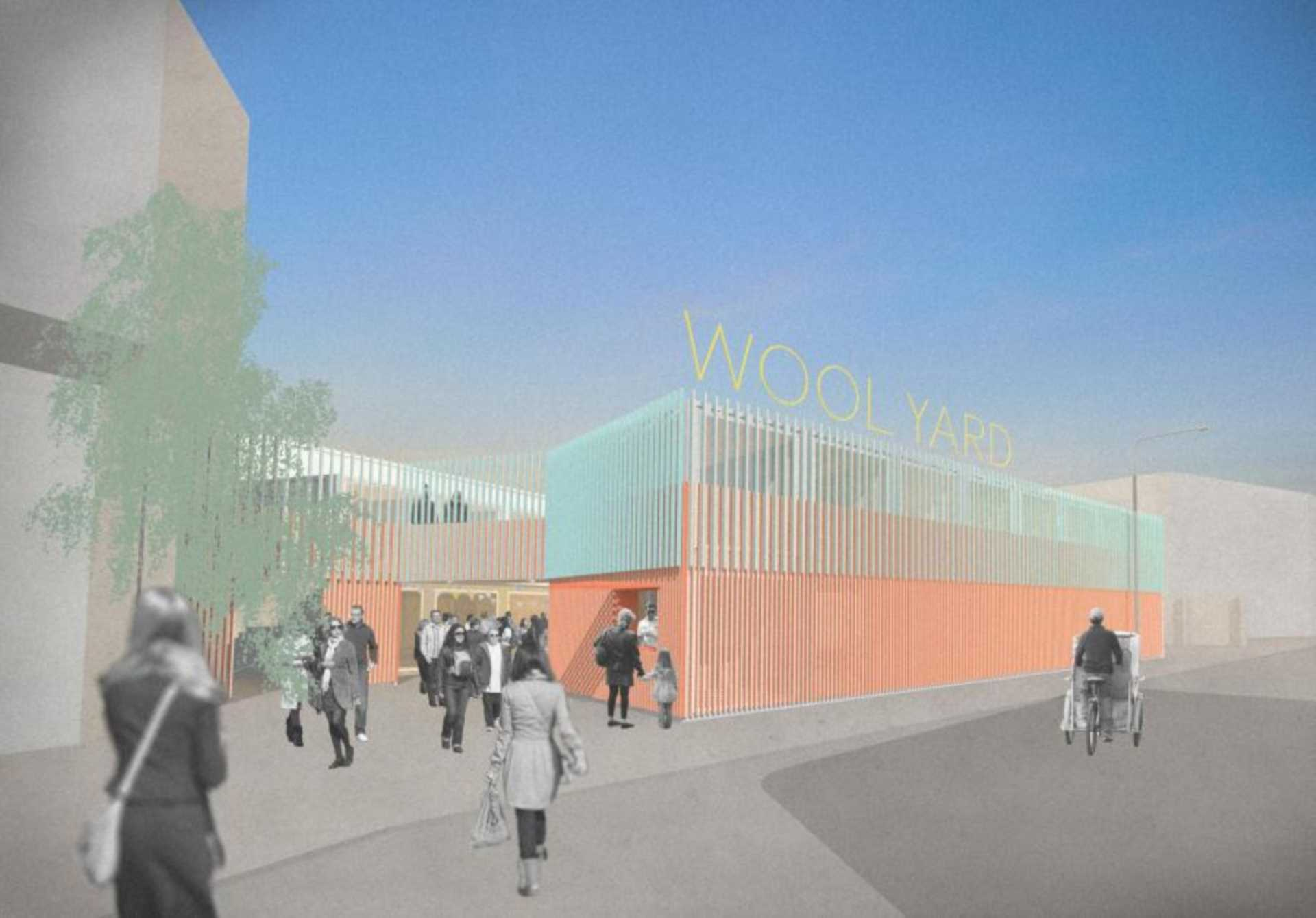Plans for Wool Yard in Woolwich