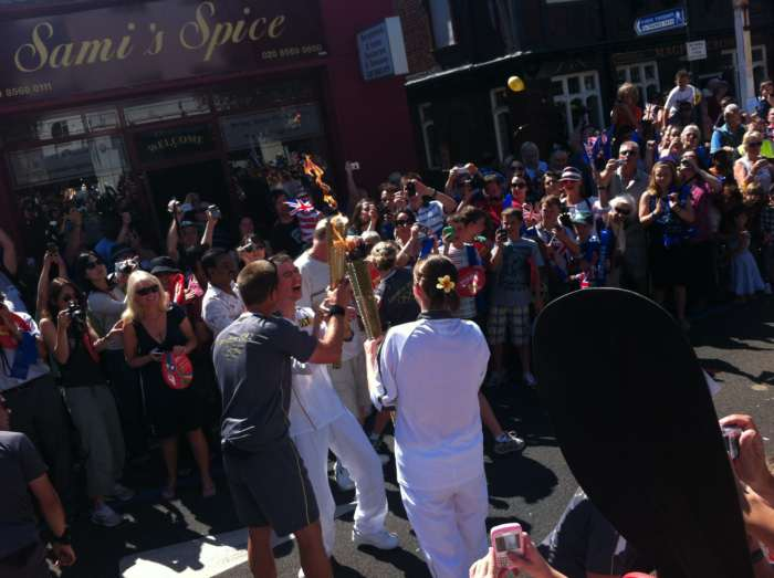 Olympic Torch Arrives In Brentford