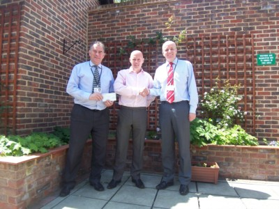 Able`s Make Final Donation To Greenwich & Bexley Hospice.