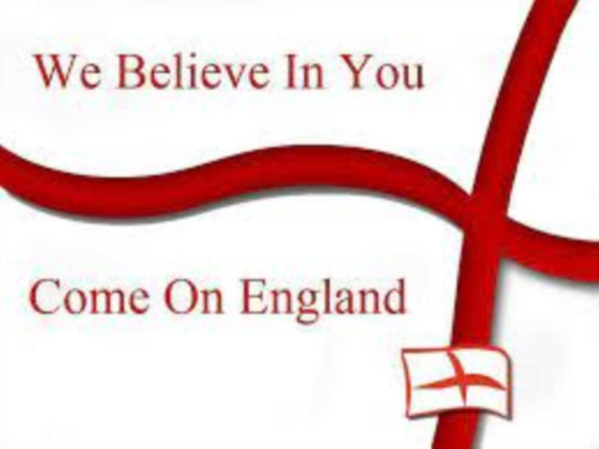 Good luck England.