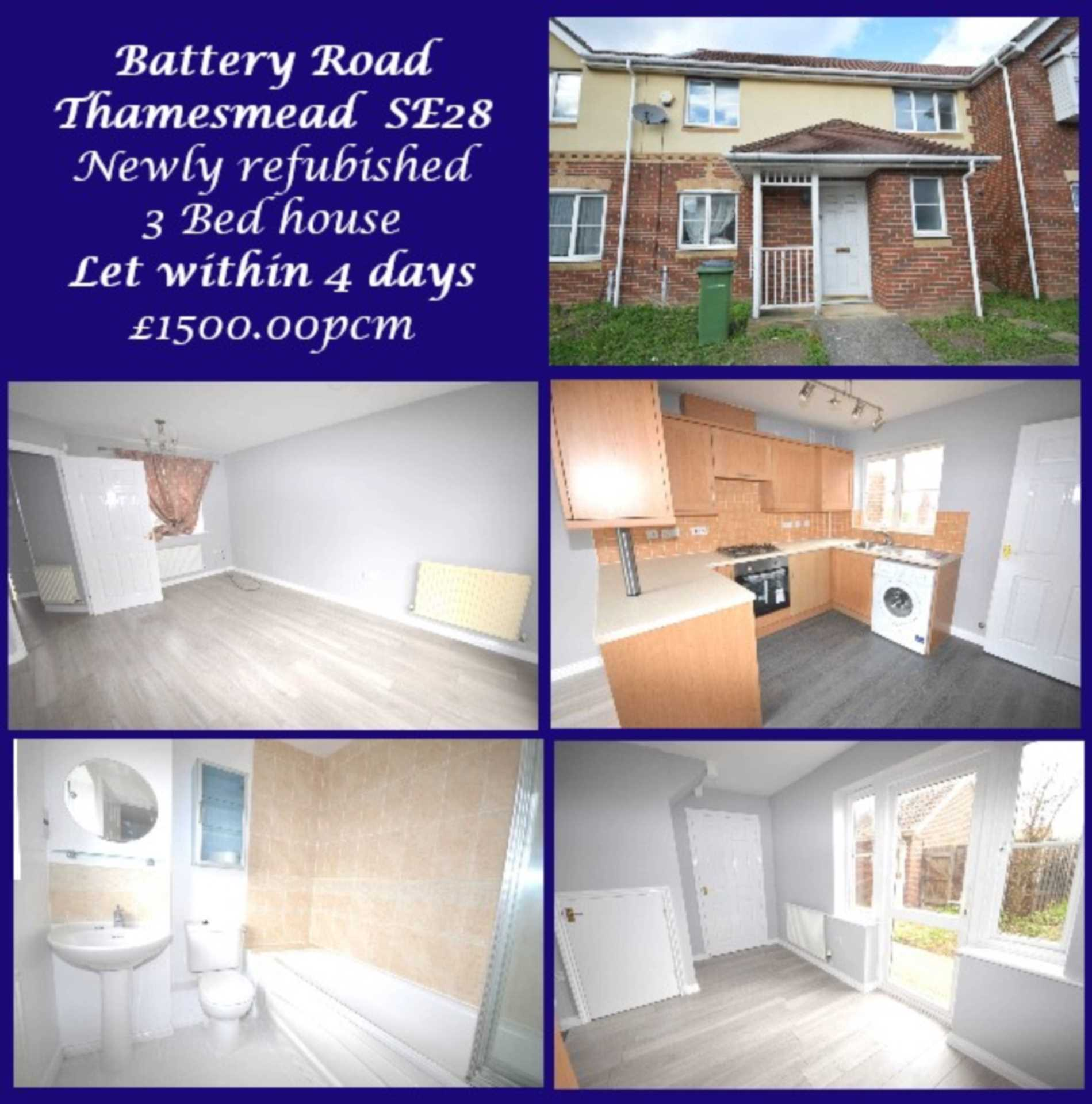 LET WITHIN 4 DAYS! Battery Road, West Thamesmead, SE28