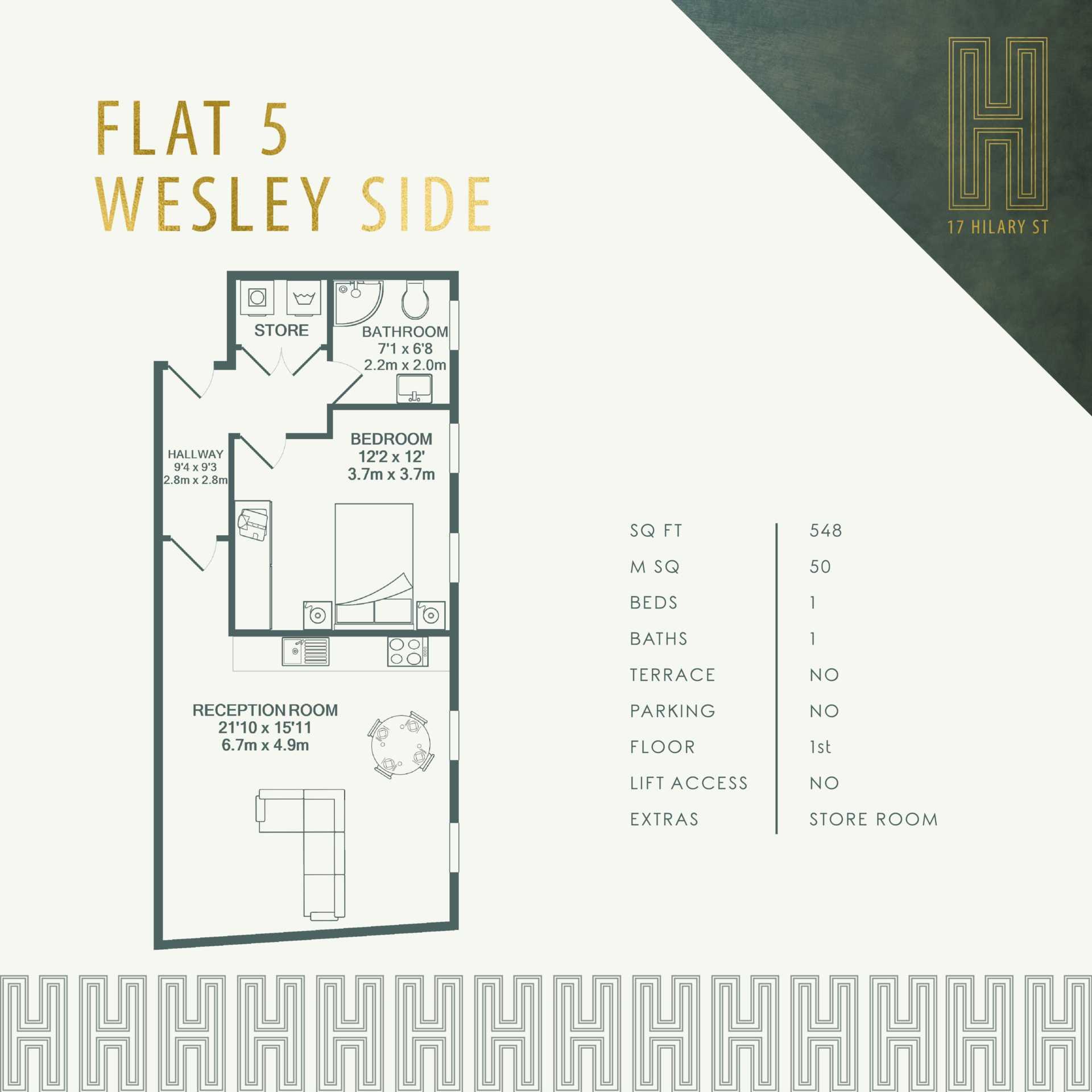 Flat 5, WS, 17 Hilary Street, Image 3
