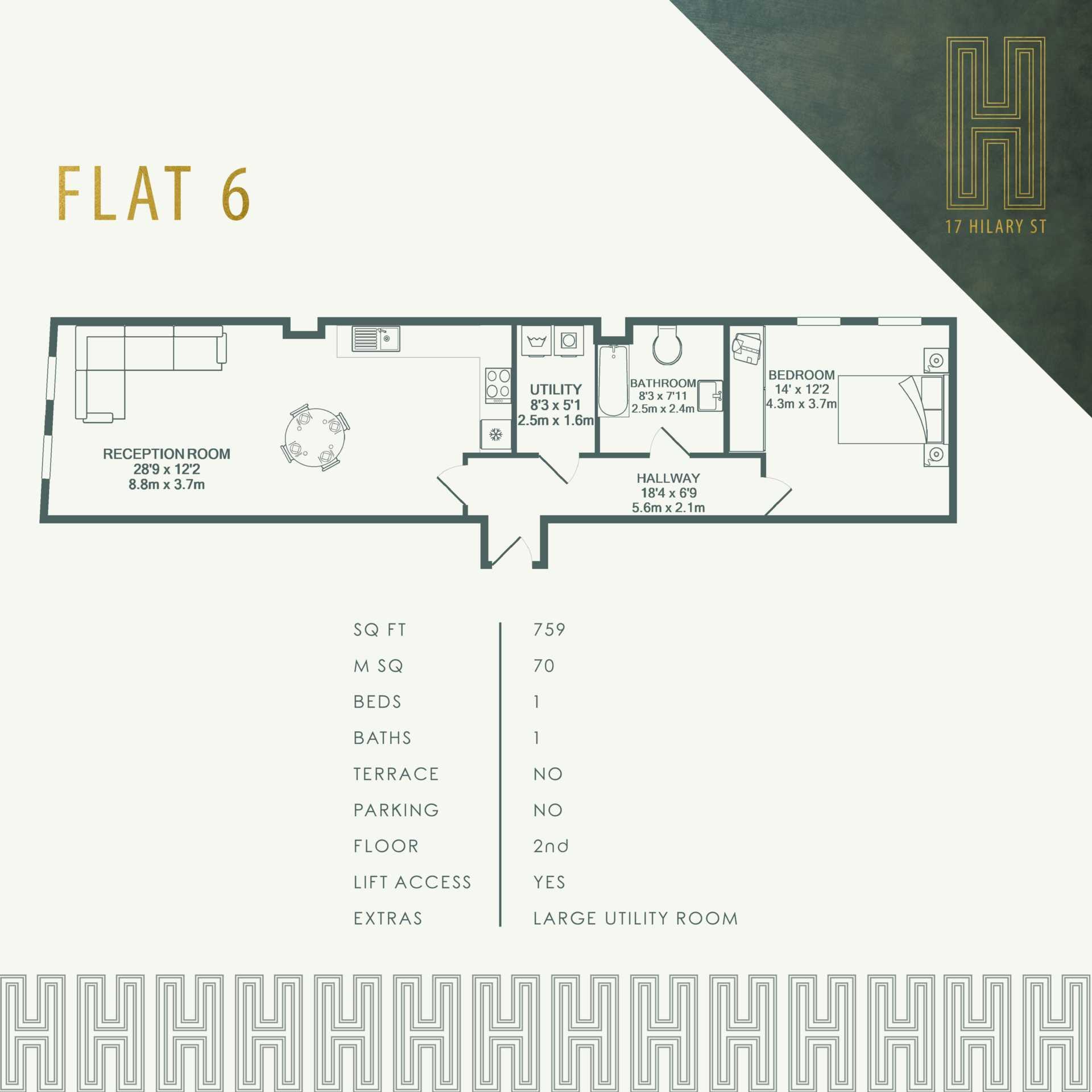Flat 6, 17 Hilary Street, Image 3