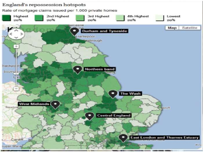 England`s Worst Areas For House Repossession Revealed
