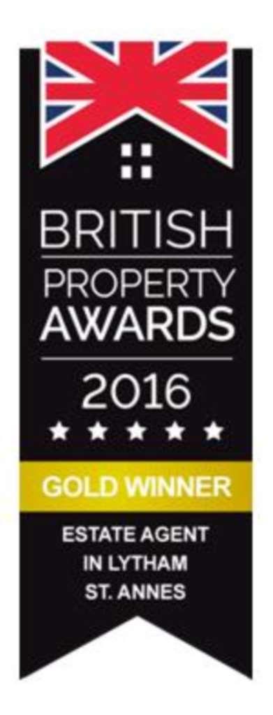 Gold Winner - British Property Awards 2016 - Estate Agent in Lytham St. Annes