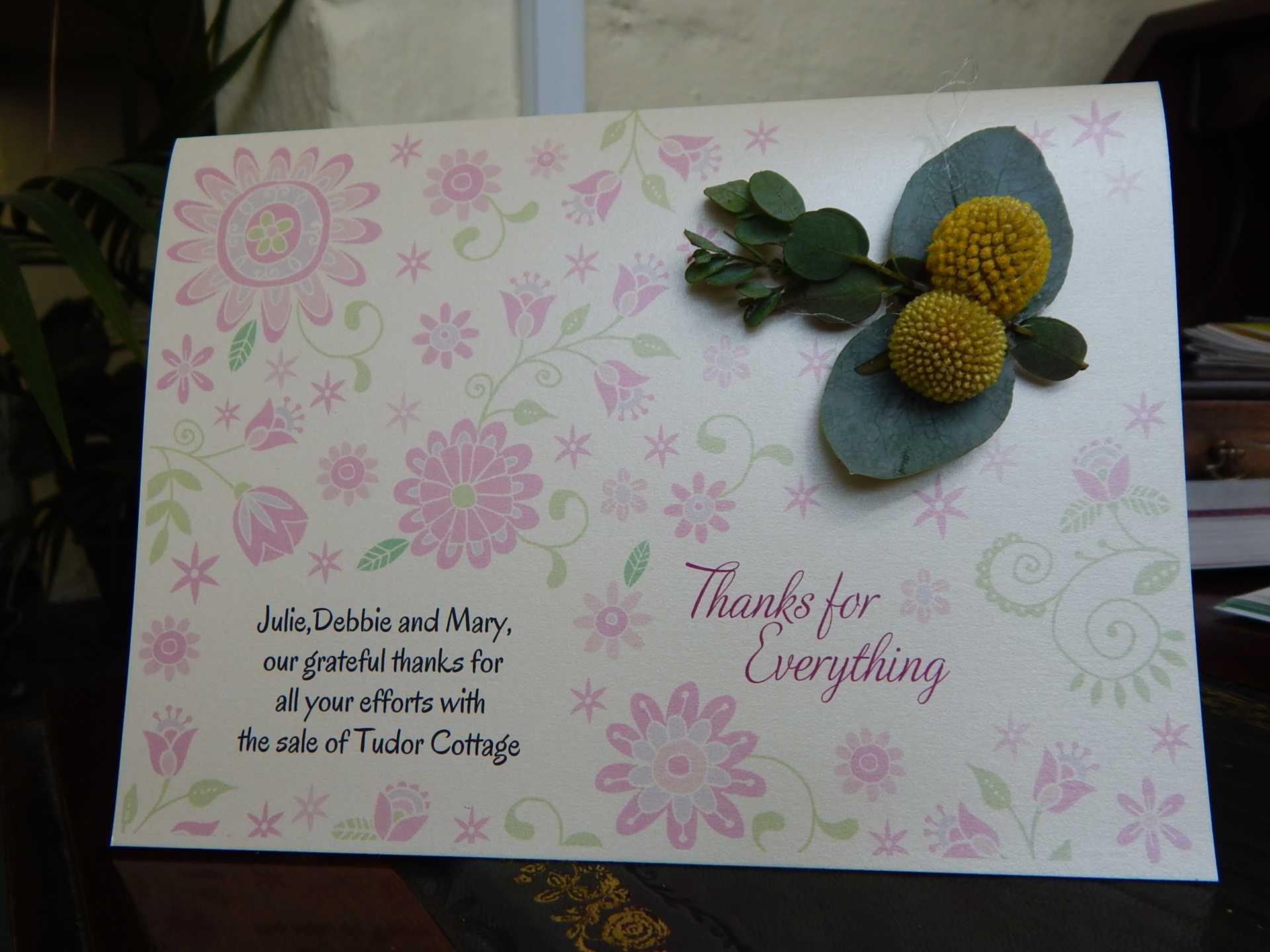Lovely Flower Card Arrived