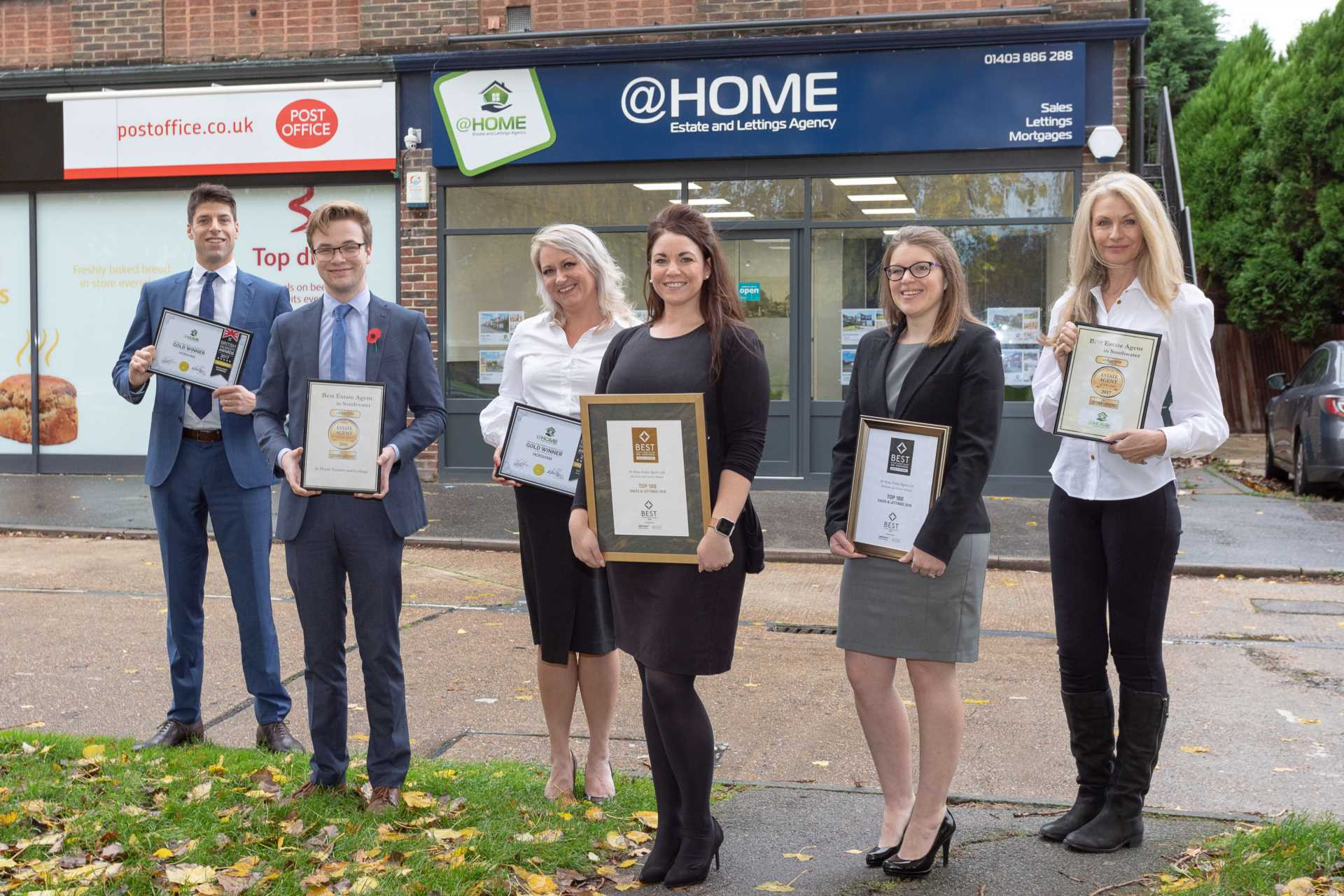 @Home win Best Estate and Lettings agency in West Sussex again!