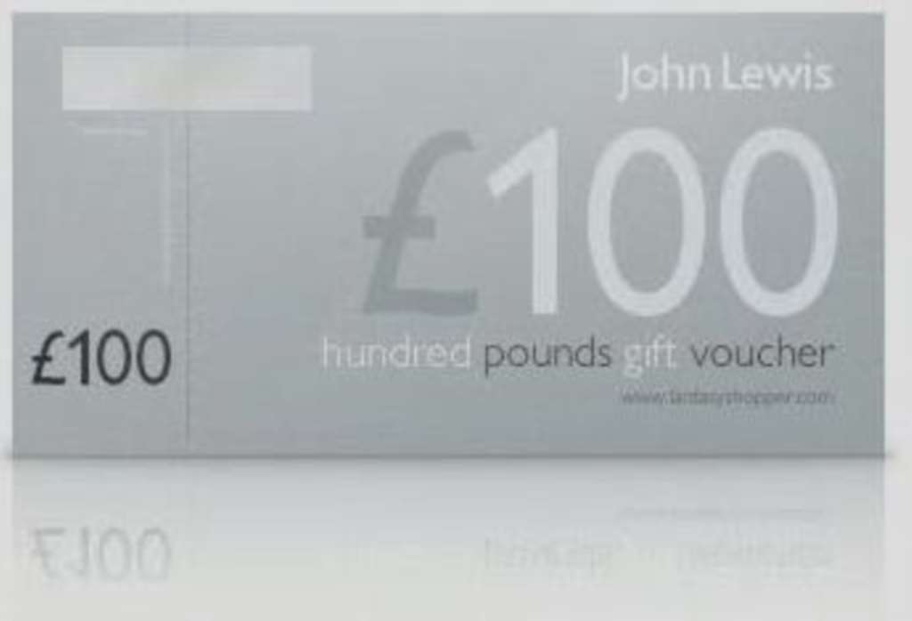 Win £100 Of John Lewis Vouchers