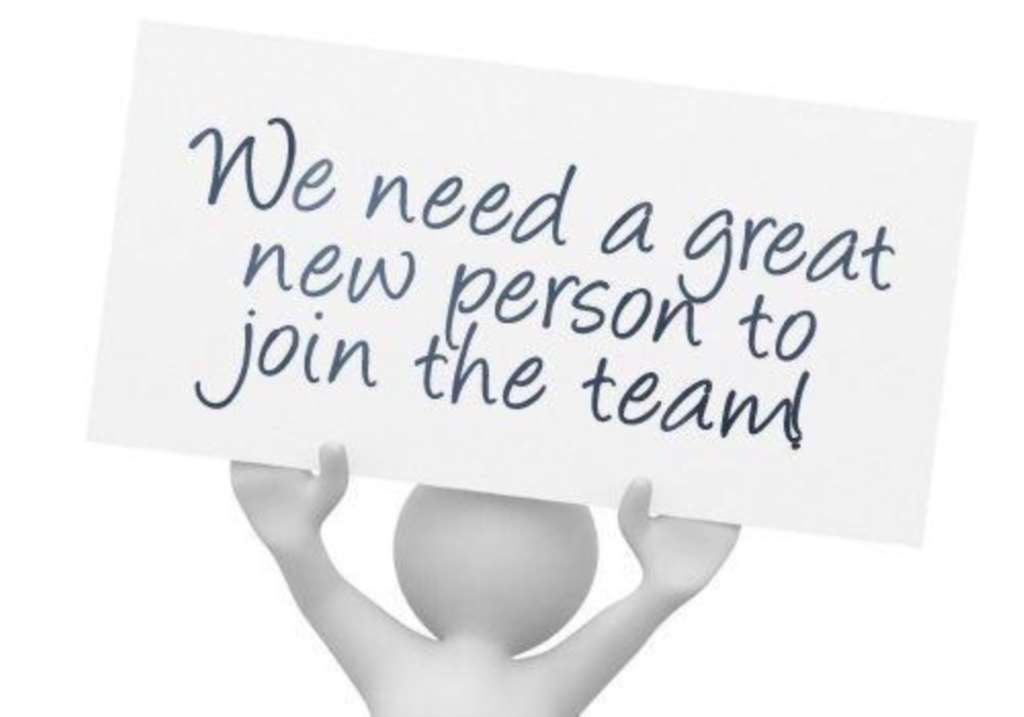 We need a great new person to join our team!