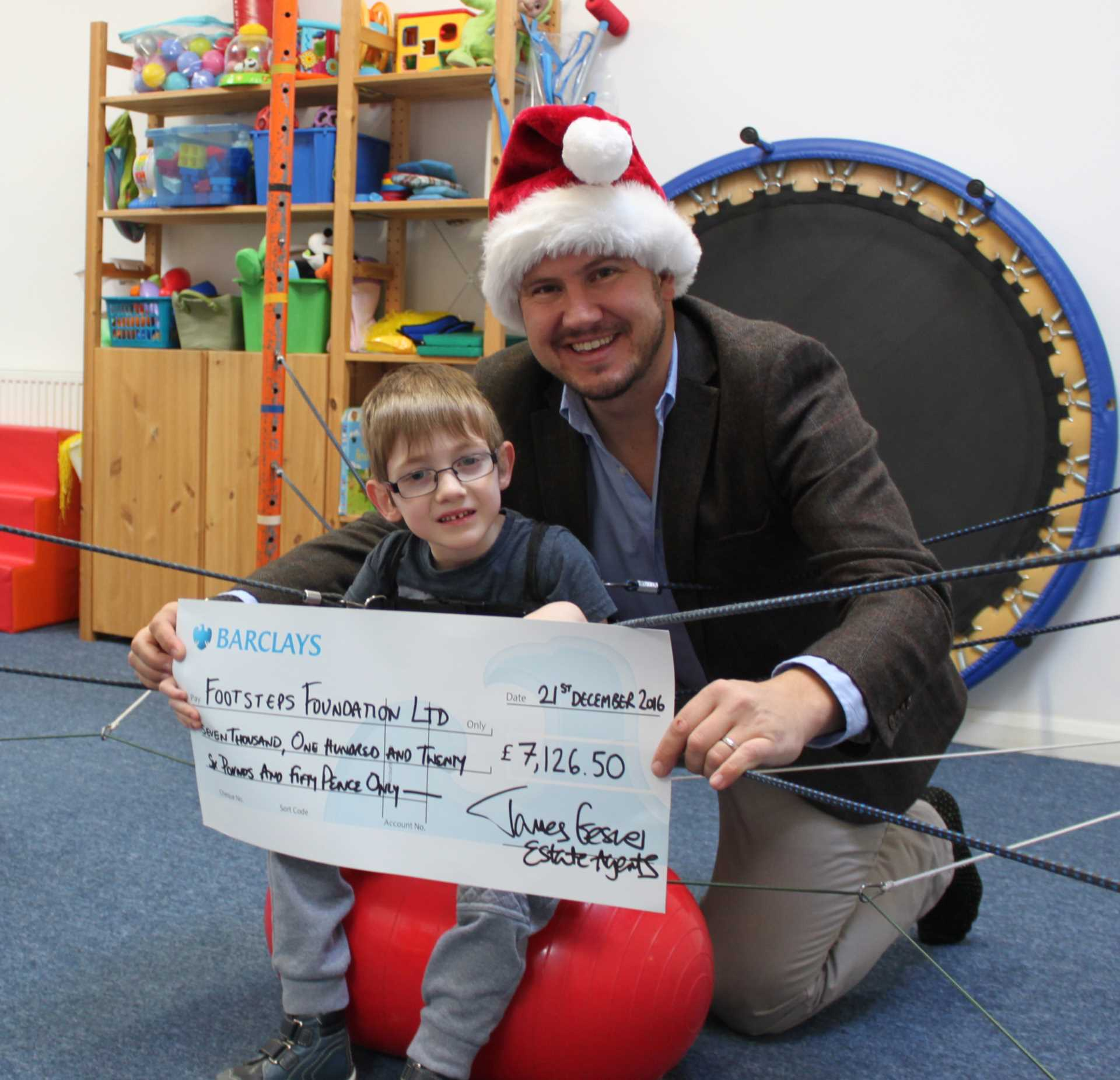 Footsteps Cheque Presentation