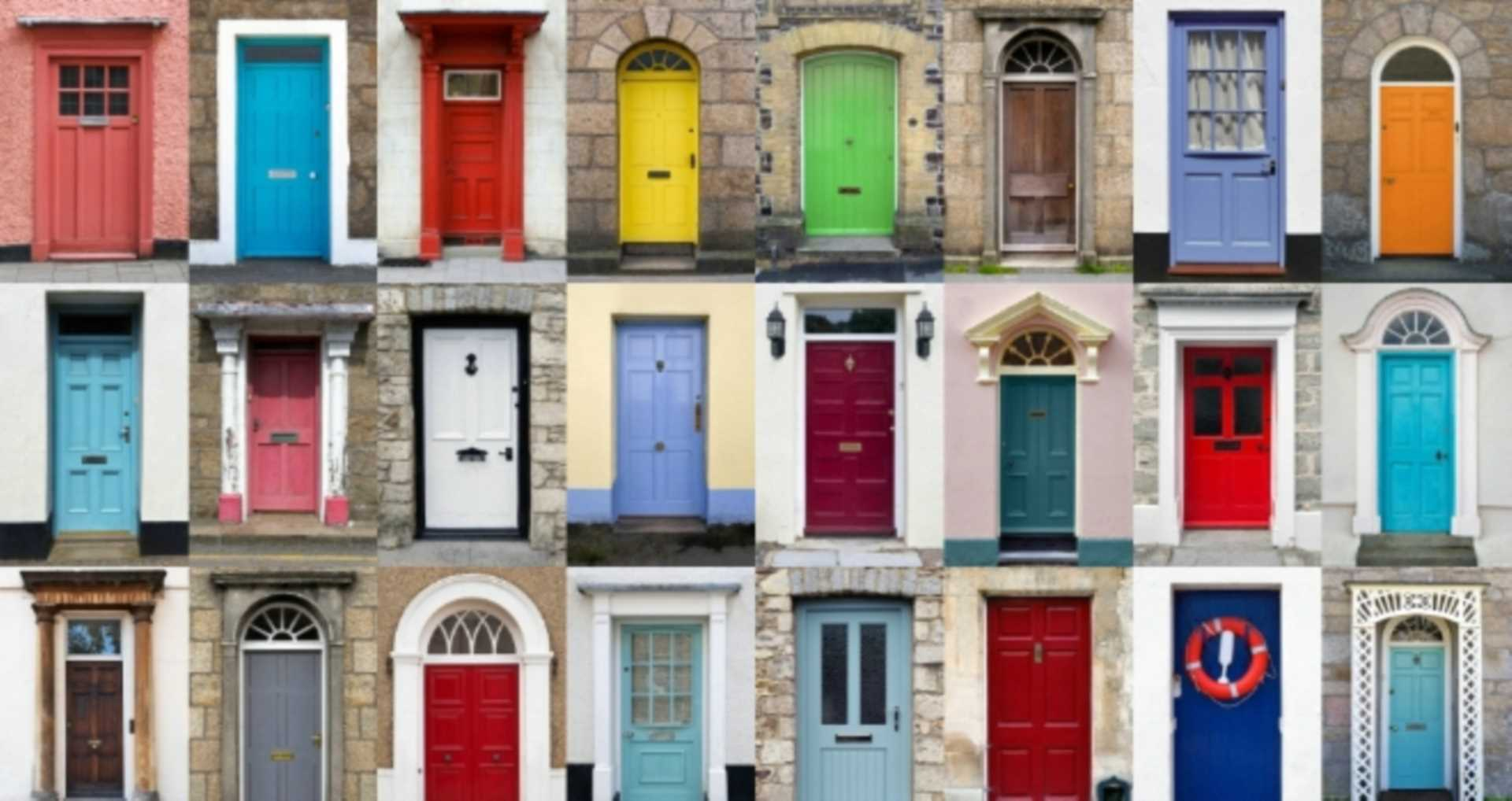 Which colour front door offers the warmest welcome?