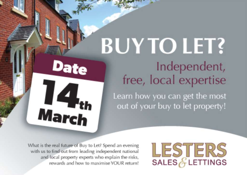 Invitation To Lesters Buy To Let Evening