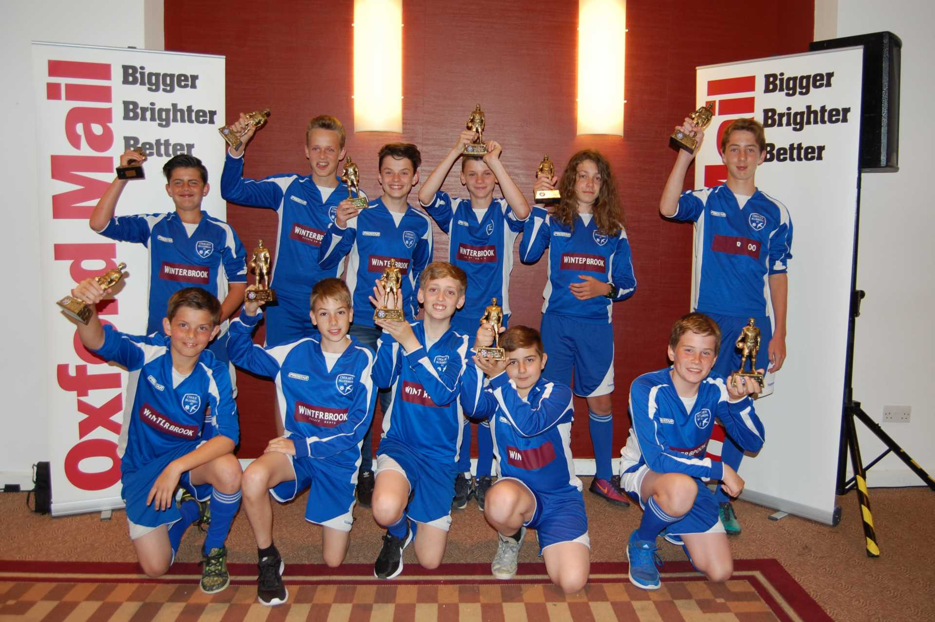 Congratulations to Cholsey Bluebirds Under 13`s football team