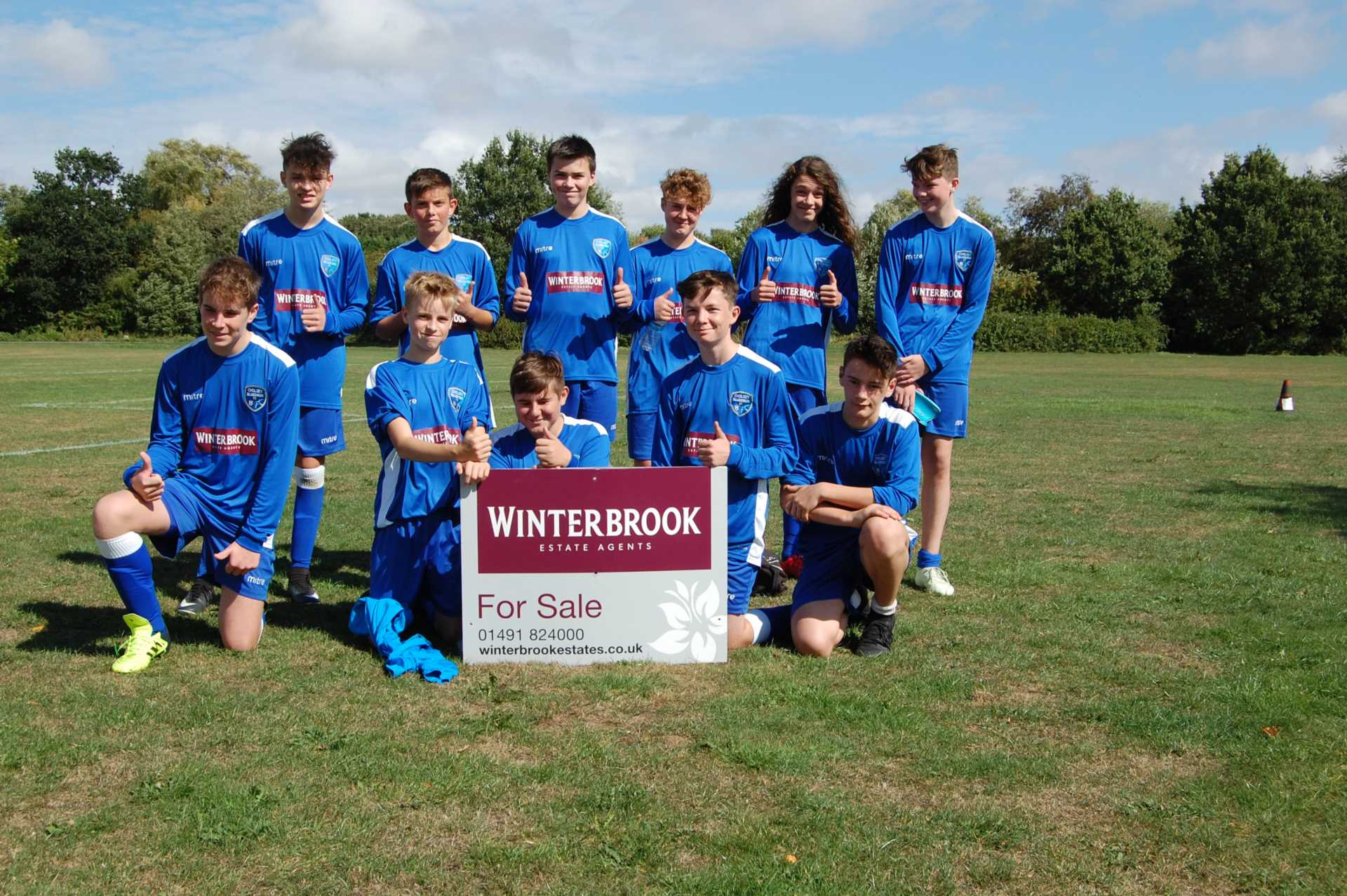 Winterbrook continuing support for the Cholsey Bluebirds under 13`s