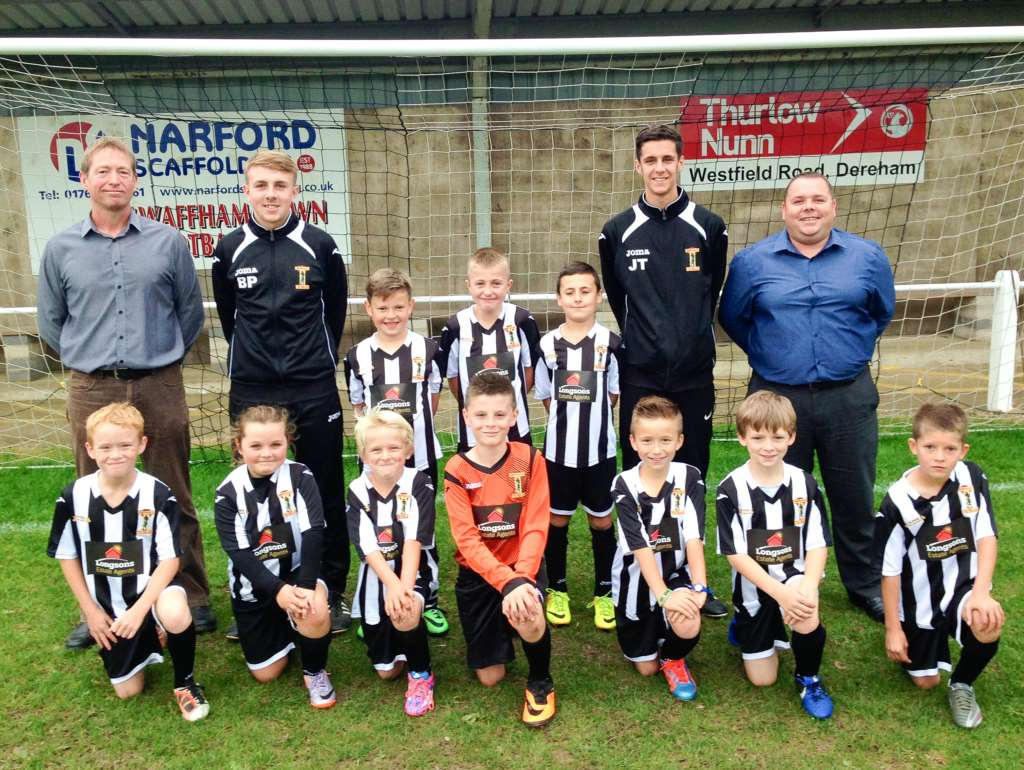Longsons Sponsor Swaffham Football Club U10s Kit