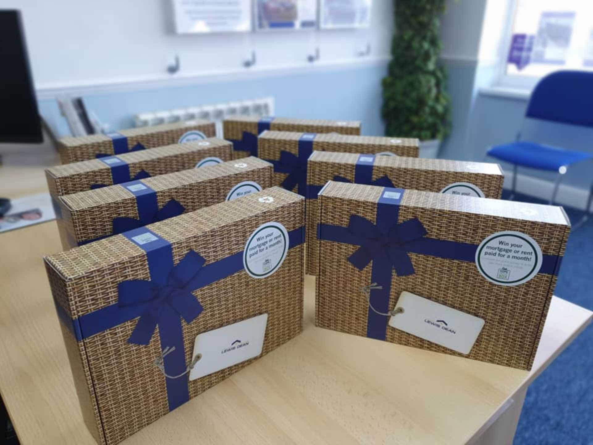 Friday is Moving Day - Customer Gift Boxes Ready
