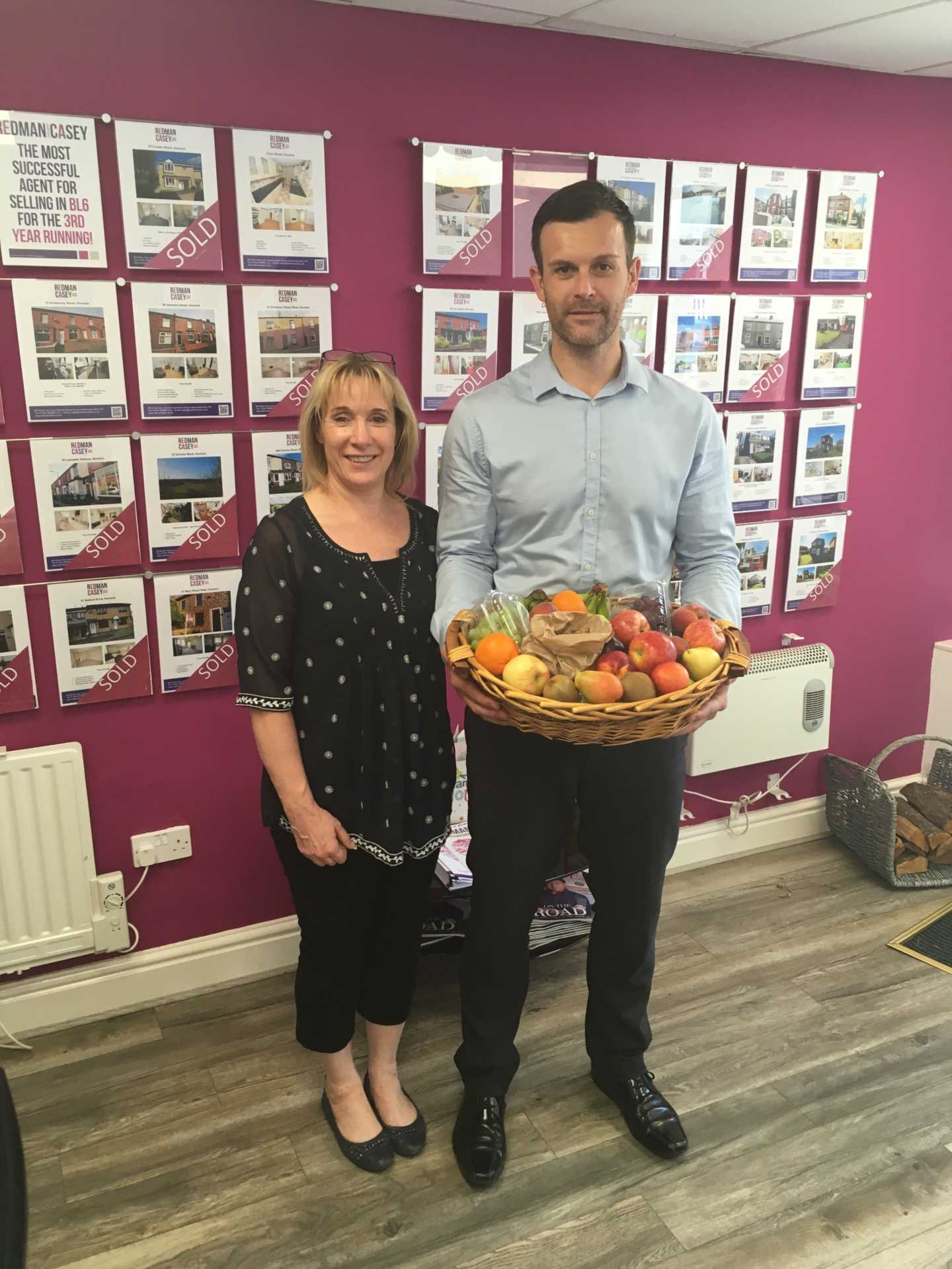 Thank you for lovely Fruit Basket from Sue & Doug our Happy Sellers