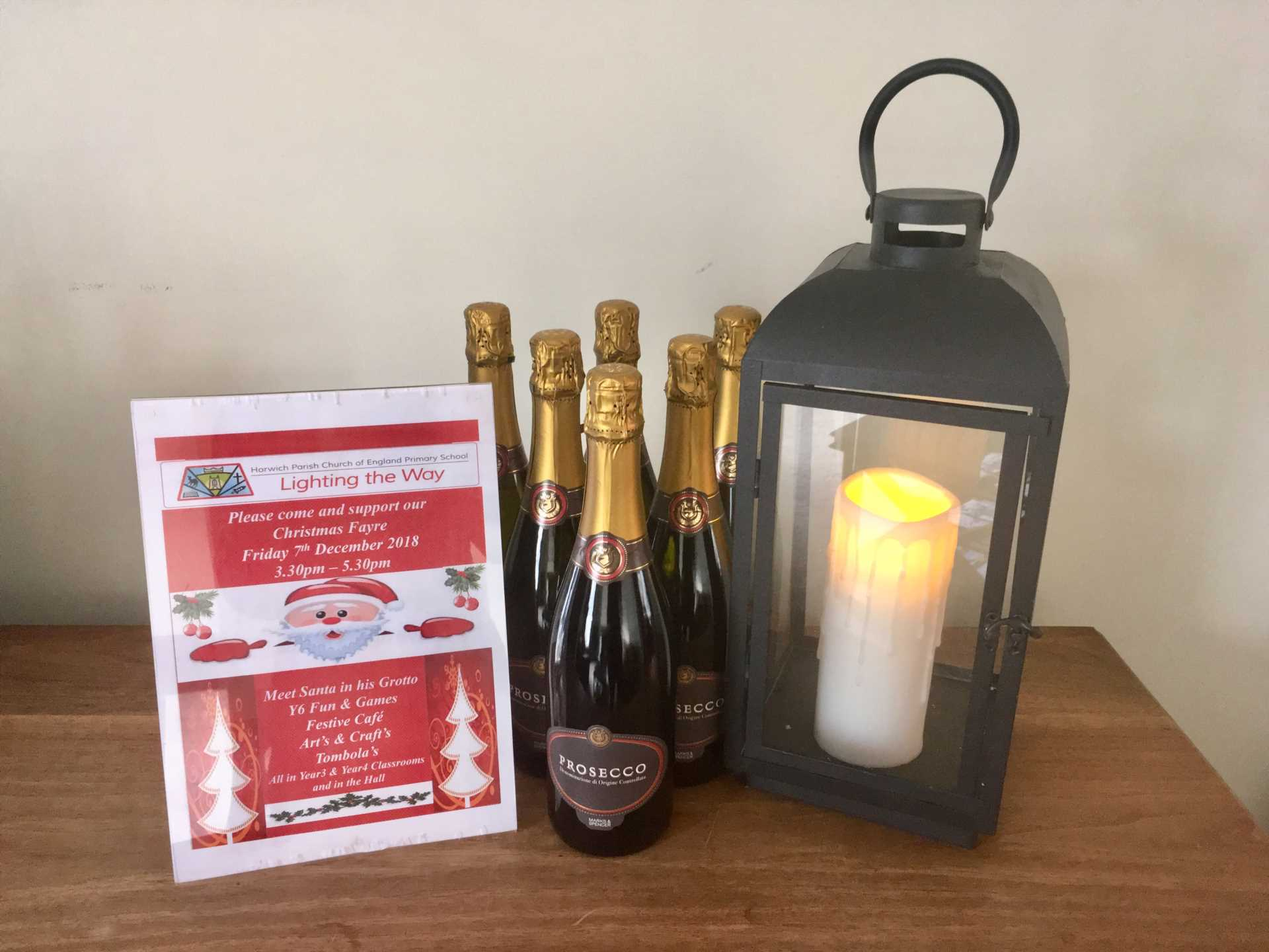 Horwich Parish Primary School -  Prosecco Donation for Christmas Fair