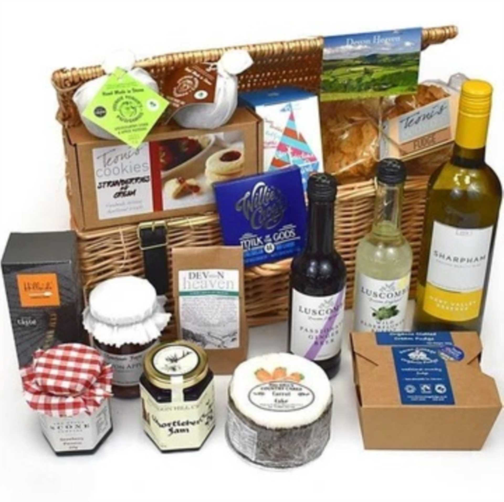 Prize Hamper to be won, full of local Devon delicacies!