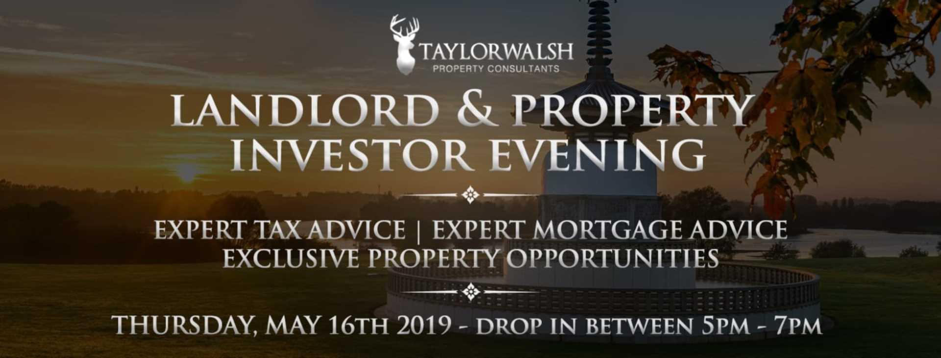 Landlord & Property Investors Drop in Evening