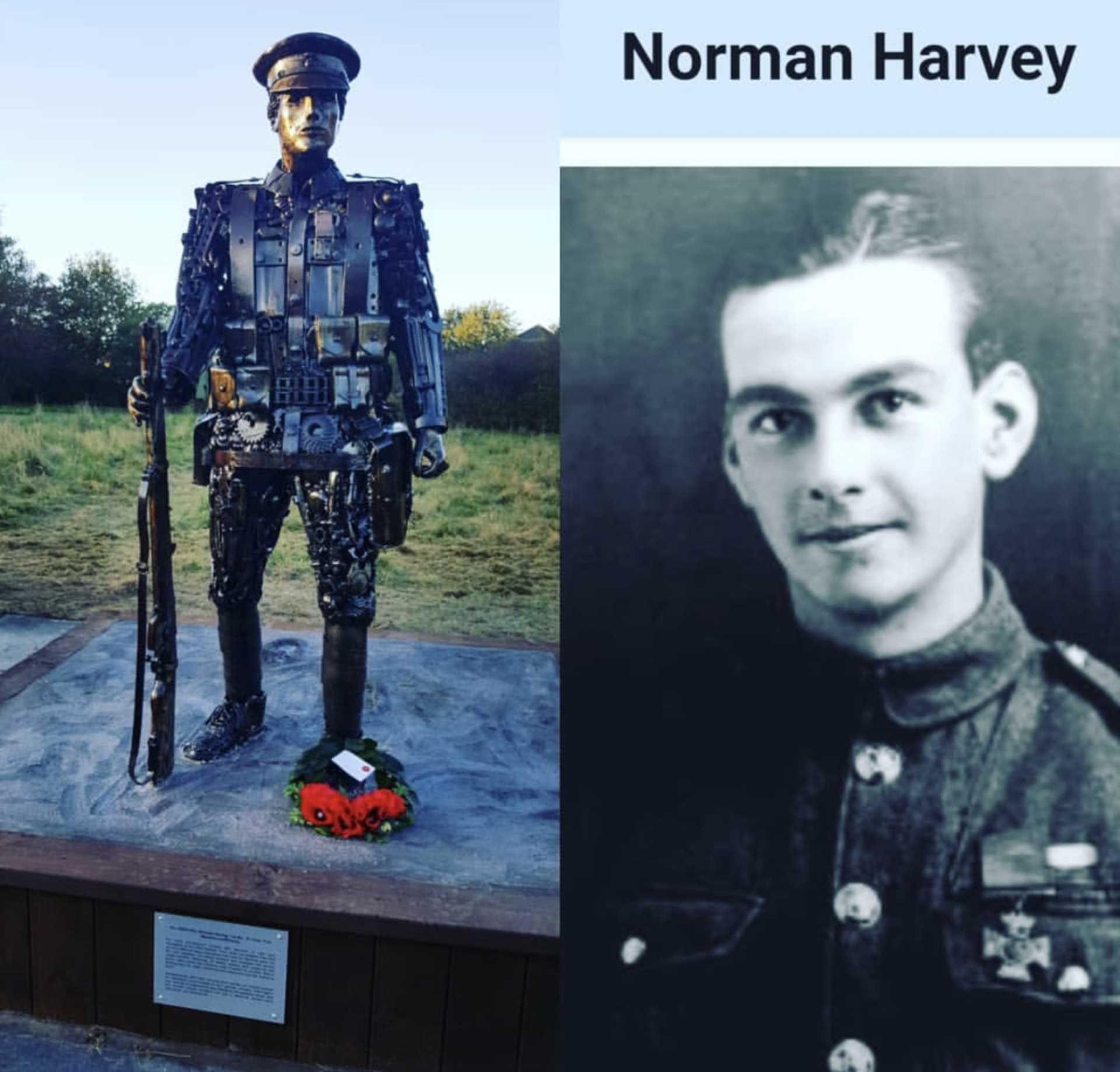 VC hero Norman Harvey unveiled