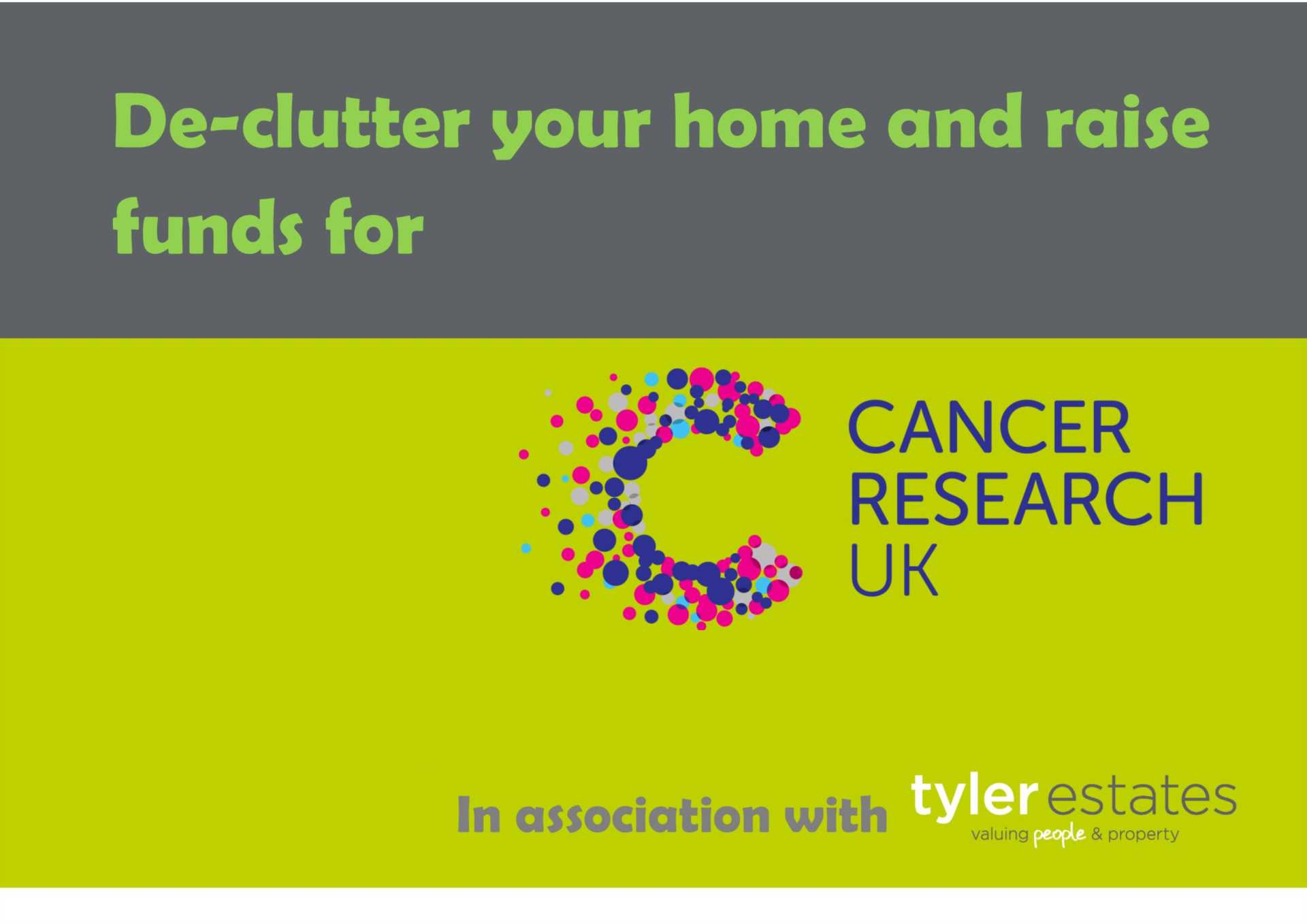 De-Clutter your home and help Cancer Research