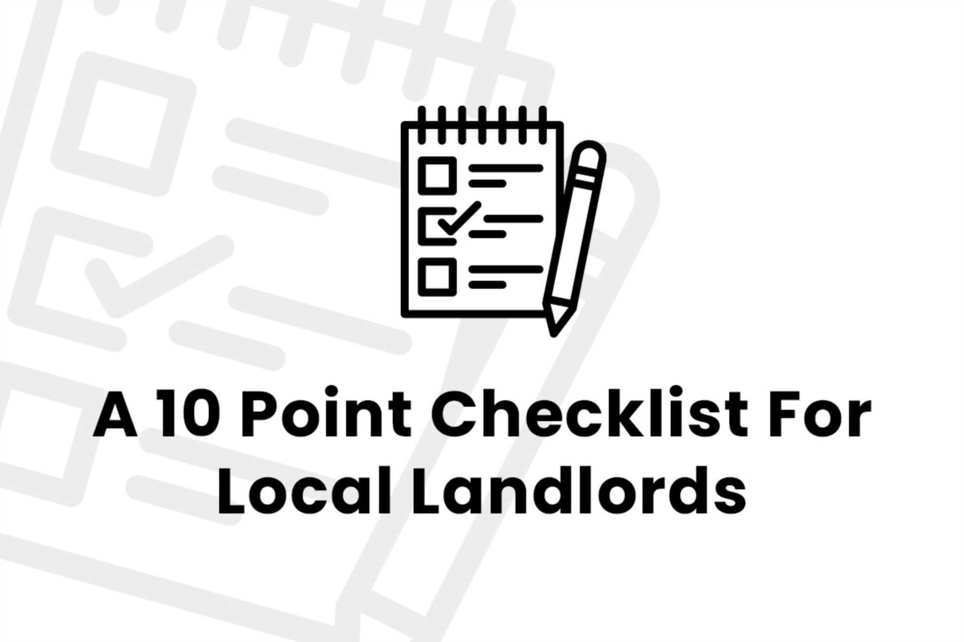 Ten Things Landlords in Billericay Need to Know