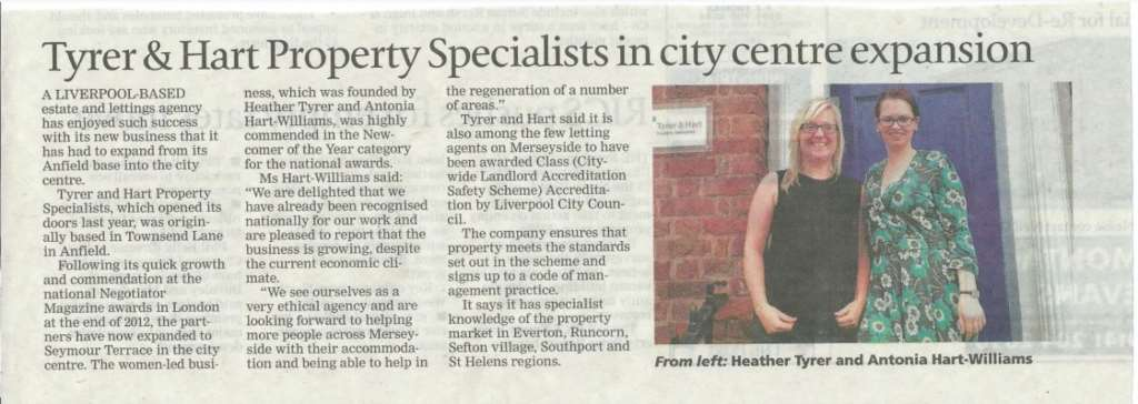 Tyrer & Hart In The Liverpool Daily Post